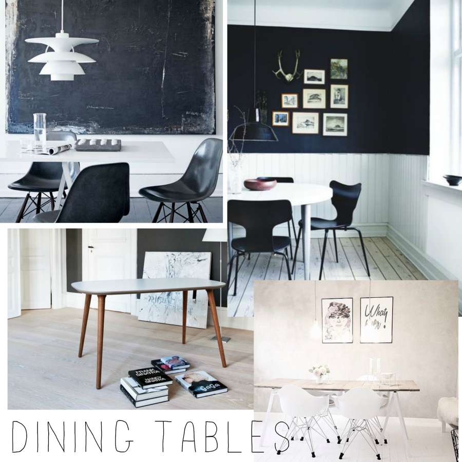 rockpaperhome, dining table inspiration, inspiration spisebord