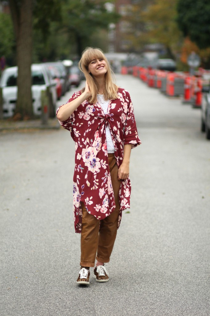 Ganni Kimono, H&M Studio leather pants, ISabel Marant leopard Bart sneakers, Frederiksberg, Cathrine nissen, Rockpaperdresses