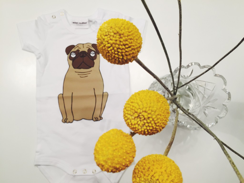 Baby's clothes with pugs on, Mini Rodini, Tøj med mopser på, Cathrine Nissen, Rockpaperdresses, Blog