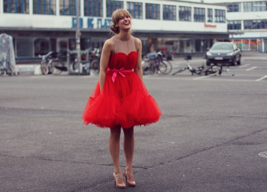 tulle dress, lanvin for H&M, rockpaperdresses, bryllup kødbyen