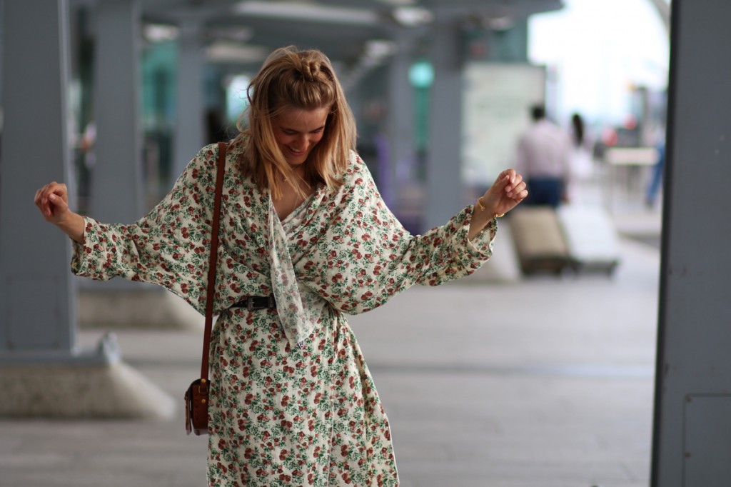 rockpaperdresses, cathrine nissen, Ganni, Heathrow Airport