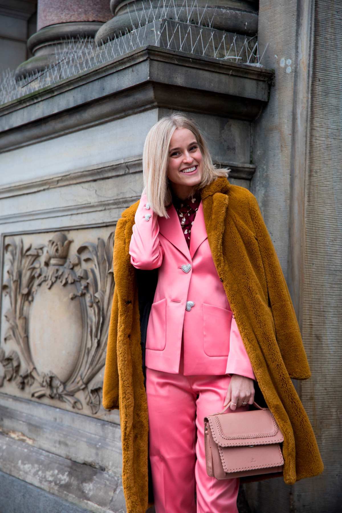 rockpaperdresses, OOTD, Pink Suit & Other Stories,